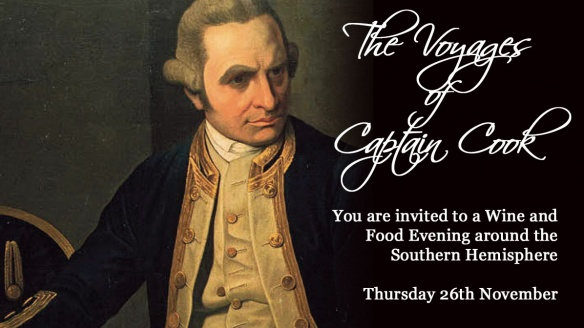Captain Cook Wine Tasting – A few Tickets Remaining