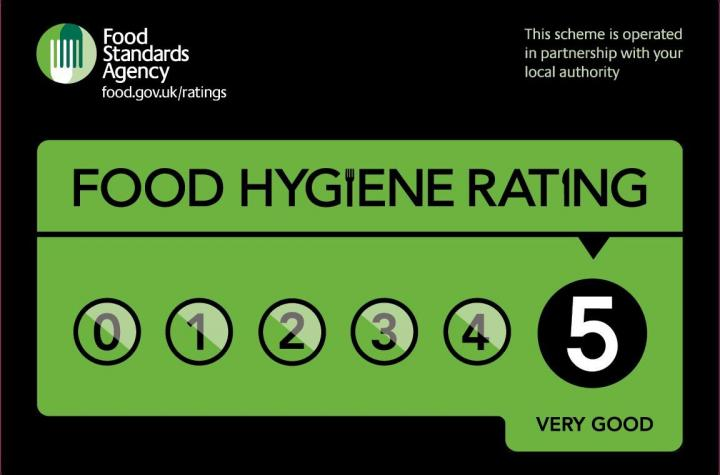 White Horse 5 Star Food Hygiene Rating from the Food Standards Agency - October 2019